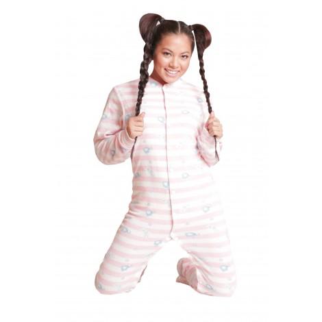 Pink Elephant Footed Pajamas