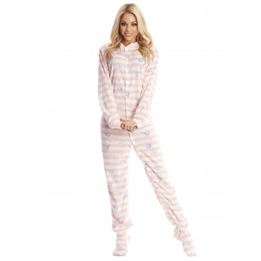 Pink Elephant Footed Pajamas