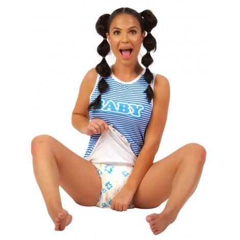 BLUE BABY ROMPER