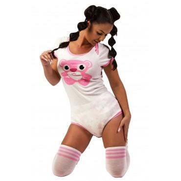 PINK TEDDY BEAR ONESIE