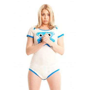 BLUE TEDDY BEAR ONESIE