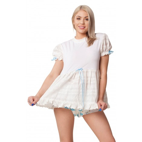PEEK-A-BOO BABY DOLL DRESS