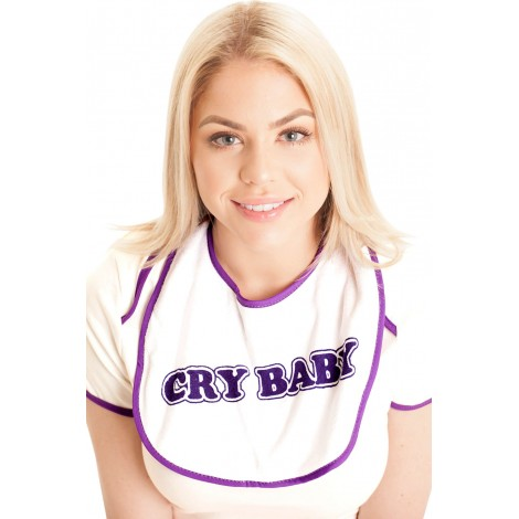 PURPLE CRY BABY BIB