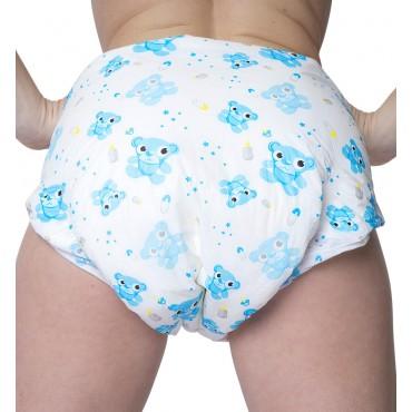 BLUE TEDDY BEAR DIAPERS