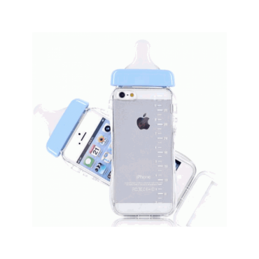 Blue Baby Bottles iPhone Case