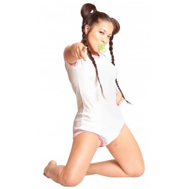 PINK AND WHITE CONTRAST ONESIE